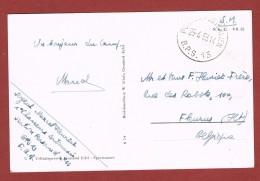 Postes Posterijen B P S 13 Op Kaart Eifel  25/4/81953 - Postmark Collection