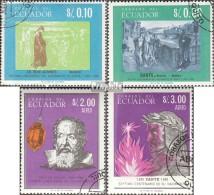 Ecuador 1220-1223 (kompl.Ausg.) Gestempelt 1966 Dante Und Galilei - Equateur