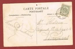 Berchem (Anvers) Op Kaart Juillet 1907 - Postmark Collection