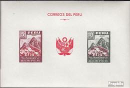 Peru Block4 (kompl.Ausg.) Postfrisch 1961 Inkastadt - Peru