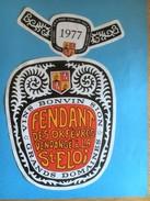 1313-  Suisse Valais  Fendant Des Orfèvres Vendangé à La St Eloi 1977 - Etiquettes