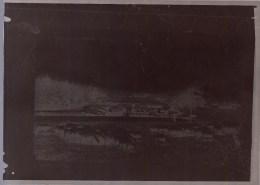 RARE - NEGATIF DE CPA ( 18 X 13cm ) * BRUXELLES WOLUWE St PIERRE - Troupeau Dans Le Parc - Woluwe-St-Pierre - St-Pieters-Woluwe