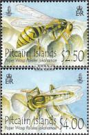 Pitcairn 827-828 (kompl.Ausg.) Postfrisch 2011 Pitcairn Feldwespe - Pitcairninsel
