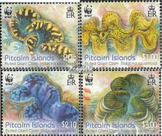 Pitcairn 865-868 (kompl.Ausg.) Postfrisch 2012 Schuppige Riesenmuschel - Pitcairninsel