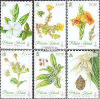 Pitcairn 907-912 (kompl.Ausg.) Postfrisch 2014 Blumen - Pitcairninsel