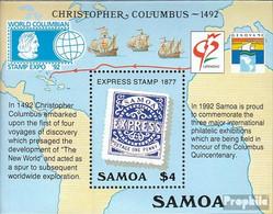 Samoa Block50 (kompl.Ausg.) Postfrisch 1992 Entdeckung Amerikas - Samoa