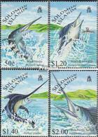 Salomoninseln 958-961 (kompl.Ausg.) Postfrisch 1998 Schwert- Und Fächerfische - Solomon Islands (1978-...)