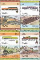 Tuvalu 213-220 Paare (kompl.Ausg.) Postfrisch 1984 Lokomotive - Tuvalu