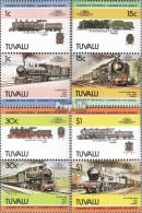 Tuvalu 248-255 Paare (kompl.Ausg.) Postfrisch 1984 Lokomotive - Tuvalu