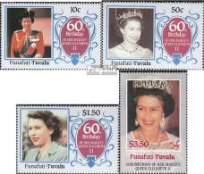 Tuvalu-Funafuti 71-74 (kompl.Ausg.) Postfrisch 1986 Geburtstag Königin Elisabeth II. - Tuvalu