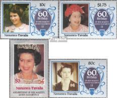 Tuvalu-Nanumea 67-70 (kompl.Ausg.) Postfrisch 1986 Geburtstag Königin Elisabeth II. - Tuvalu