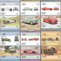 Tuvalu-Nanumea 93-104 Paare (kompl.Ausg.) Postfrisch 1986 Autos - Tuvalu