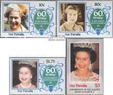 Tuvalu-Nui 71-74 (kompl.Ausg.) Postfrisch 1986 Geburtstag Königin Elisabeth II. - Tuvalu