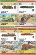 Tuvalu-Nukulaelae 17-24 Paare (kompl.Ausg.) Postfrisch 1984 Lokomotiven - Tuvalu
