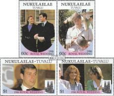 Tuvalu-Nukulaelae 96-99 Paare (kompl.Ausg.) Postfrisch 1986 Prinz Andrew + Sarah Ferguson - Tuvalu