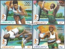 Vanuatu 1121-1124 (kompl.Ausg.) Postfrisch 2000 Olympische Sommerspiele - Vanuatu (1980-...)