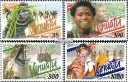 Vanuatu 1141-1144 (kompl.Ausg.) Postfrisch 2001 Traditionelle Tänze - Vanuatu (1980-...)