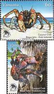 Vanuatu 1345-1346 (kompl.Ausg.) Postfrisch 2008 Schutz Der Palmendiebe - Vanuatu (1980-...)