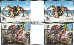 Vanuatu 1345ZW-1346ZW Zwischenstegpaare (kompl.Ausg.) Postfrisch 2008 Schutz Der Palmendiebe - Vanuatu (1980-...)