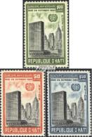 Haiti 645-647 (kompl.Ausg.) Postfrisch 1960 15 Jahre UNO - Haiti