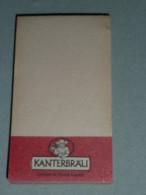 Rare Ancien Carnet Calepin De Bar Café Bistro Bistrot Bière KANTERBRAU - Unclassified