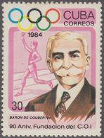 1984.52 CUBA 1984 MNH. Ed.3034. PIERRE DE COUBERTAIN. 90 ANIV FUNDACION DEL C.O.I. OLYMPIC OLIMPIADAS COMMITTEE. - Cuba