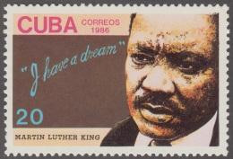 1986.56 CUBA 1986 MNH. Ed.3192. MARTIN LUTHER KING. BAPTIST CHURCH. - Cuba