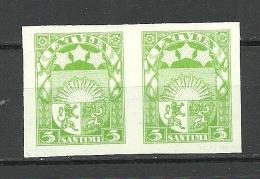 Latvia Lettland 1929 Michel 172 Z (reversed WM) ARCHIVE PROOF Probedruck Essay In Pair MNH - Lettonie