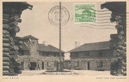 D24523 CARTE MAXIMUM CARD RR 1934 USA - FORT DEARBORN CHICAGO CP ORIGINAL - Architecture