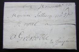 1733 Lettre Pour Grenoble à Monsieur Sallicou, Notaire Royal - Manuscripts