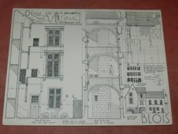 BLOIS  / ARCHITECTURE/ 1CROQUIS LAPRADE DE 1940 / 7 RUE PORTE CHARTRAINE / PORTE CLOS HAUT   FORMAT 31X24 CM - Architecture