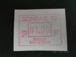 SCINDAFIL ´90. C Papier. Dienst / VS Nieuwe Cijfers. - Vignettes D'affranchissement