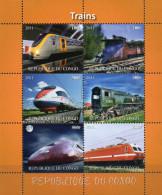 Kongo Block  Züge 2011  ** / MNH - Trains