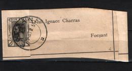 Newspaper Stamp (issue IV/1894 ) 1 1/2b King Carol I , Used Focsani - Used Stamps