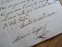 Antonio DE VARGAS Y LAGUNA (1763-1824) Ministro Plenipotenciario De Fernando VII En Roma - Autografo - Autographes