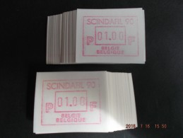 SCINDAFIL ´90. C Papier. Dienst / VS Nieuwe Cijfers. 200 X - Automatenmarken (ATM)