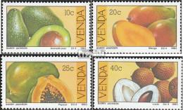 Südafrika - Venda 82-85 (kompl.Ausg.) Postfrisch 1983 Früchte - Venda
