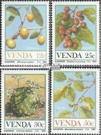 Südafrika - Venda 112-115 (kompl.Ausg.) Postfrisch 1985 Früchte - Venda