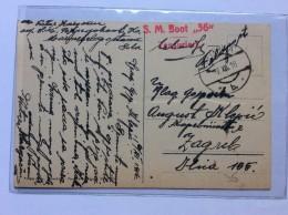 "SHIP   BOAT  SCHIFFE     WARSHIP    S.M.BOOT  "" 36   ""     1916 - Bateaux"
