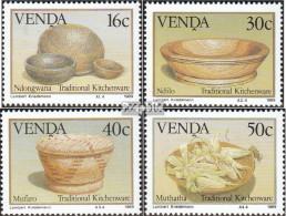 Südafrika - Venda 183-186 (kompl.Ausg.) Postfrisch 1989 Traditonelles Küchengeschirr - Venda