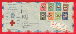 VENEZUELA - N°PA178/185 - Croix-Rouge En Série Complète - Lettre Recommandée Du 28 Août 1944. - Venezuela