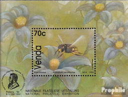 Südafrika - Venda Block8 (kompl.Ausg.) Postfrisch 1992 Bienenarten - Venda