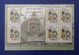 2010 VATICANO FOGLIETTO MINIFOGLIO NUOVO STAMP NEW MNH** - Santuario Madre Grazie Mentorella - Terremoto Haiti - - Vaticano
