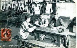 N°50303 -cpa Infanterie -la Lettre Au Pays- - Regiments