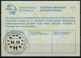UNITED NATIONS VIENNA  INT. BEVÖLKERUNGSKONFERENZ  O ERSTTAG 02.03.84 ( No. 2 ) On Int. Reply Coupon Reponse IRC IAS - Cartas