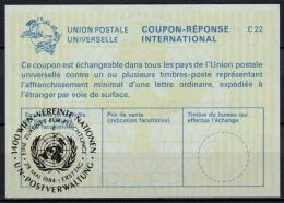 UNITED NATIONS VIENNA  EINE ZUKUNFT FÜR FLÜCHTLINGE  O ERSTTAG 29.05.84 ( No. 2 ) On Int. Reply Coupon Reponse IRC IAS - Cartas