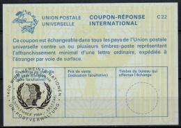 UNITED NATIONS VIENNA  WELTJUGENDJAHR  O ERSTTAG 15.11.84 ( No. 2 ) On Int. Reply Coupon Reponse IRC IAS Antwortschein - Cartas