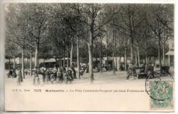 75. Paris. Montmartre. La Place Constantin Pecqueur - Distretto: 19