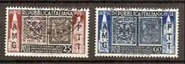 1952 Italia Italy Trieste A MODENA E PARMA Serie Di 2v. Usata USED - 7. Trieste