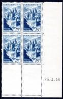 FRANCE - YT N° 805 Bloc De 4 Coin Daté - Neufs ** - MNH - Cote: 27,50 € - 1940-1949